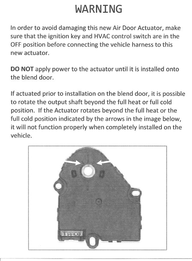 SilveradoSierra com • How To Fix Mode/Blend Door Actuator